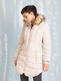 Winter Coats Cream for Women Fracomina Online Store Fracomina- Here Now