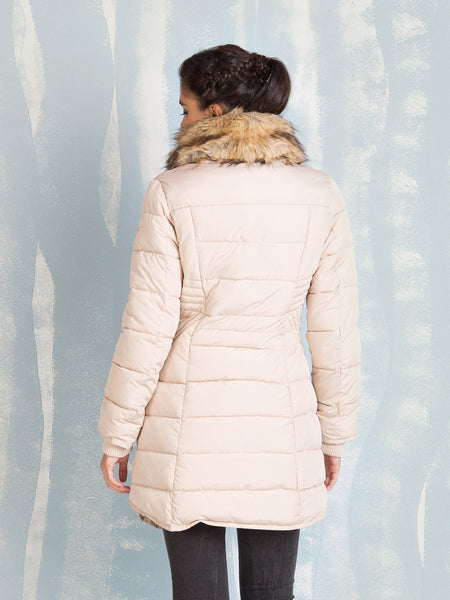 Winter Coats Cream for Women Fracomina- Here Now