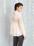 White Blouses With Lace Details Deby Debo DEBY DEBO- Here Now