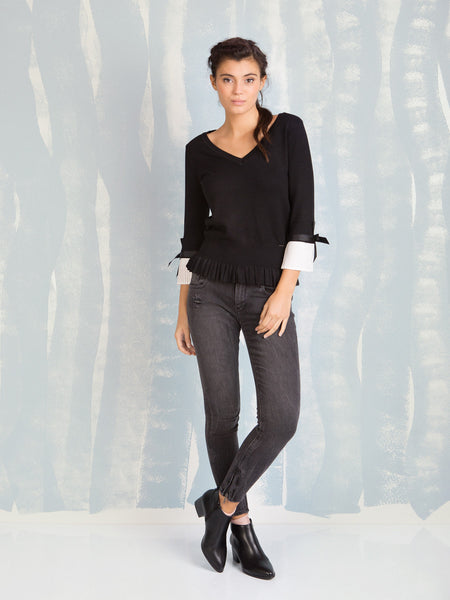 Jeans Hillary Black Vintage Fracomina Online Store Fracomina- Here Now