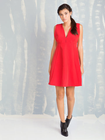 Chic Me Red Dress Coquelicot COQUELICOT- Here Now