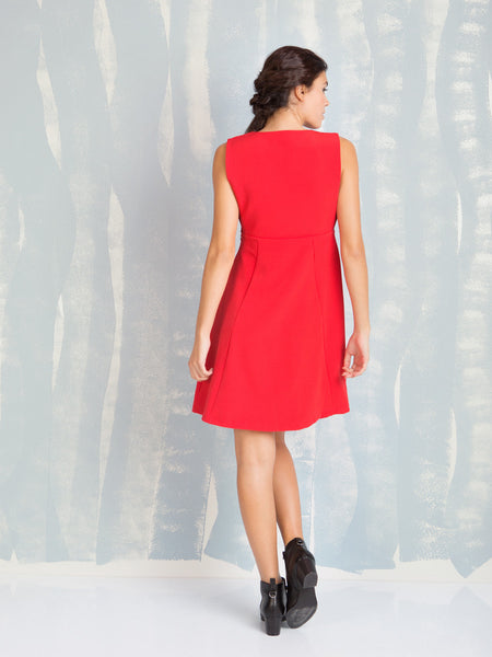Chic Dress Red Coquelicot COQUELICOT- Here Now