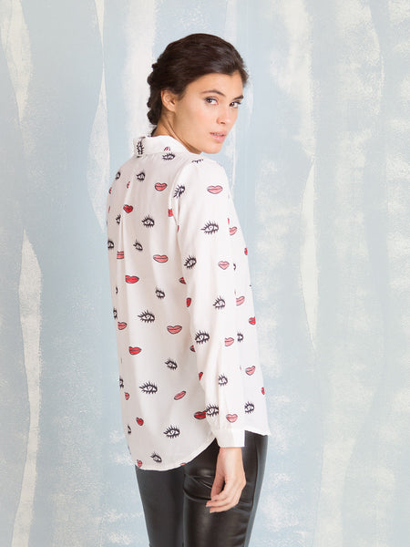 Eyes and Lips shirt Coquelicot COQUELICOT- Here Now