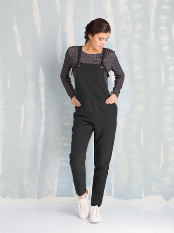 SALE Overalls Black - Overalls for Women's - Overalls Blue HERE NOW COQUELICOT- Here Now