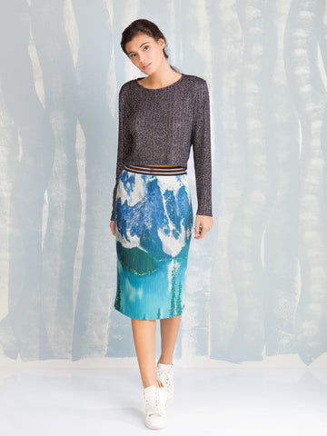 Coquelicot Mountains and Rivers Skirt COQUELICOT- Here Now