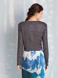 Super Lurex Knit Coquelicot COQUELICOT- Here Now