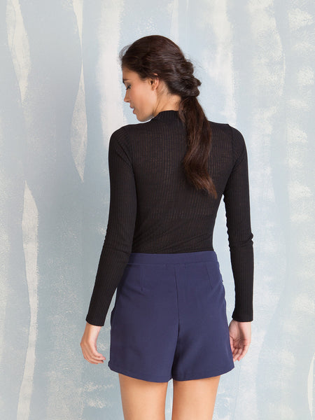 Ribbed body, perfect for winter it is the perfect way to get warm Coquelicot COQUELICOT- Here Now