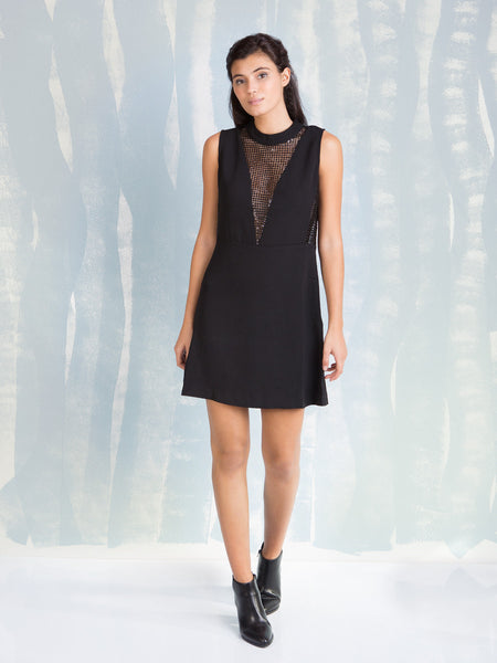 Dress Sheer Sequins Black  Deby Debo DEBY DEBO- Here Now