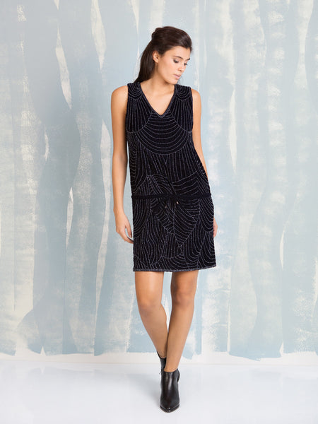 Chic Dress Blue Velvet with Sequins Deby Debo DEBY DEBO- Here Now