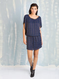 Chic Dress Gold on Blue Deby Debo DEBY DEBO- Here Now