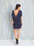 Dress Chic Gold on Blue Deby Debo DEBY DEBO- Here Now