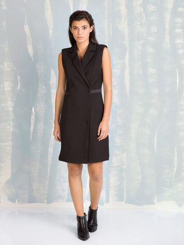 FRACOMINA Black Vest Dress Fracomina- Here Now