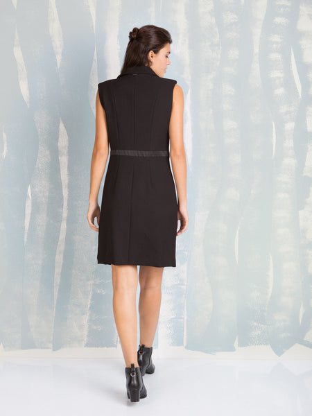 Black Vest Dress Fracomina Fracomina- Here Now