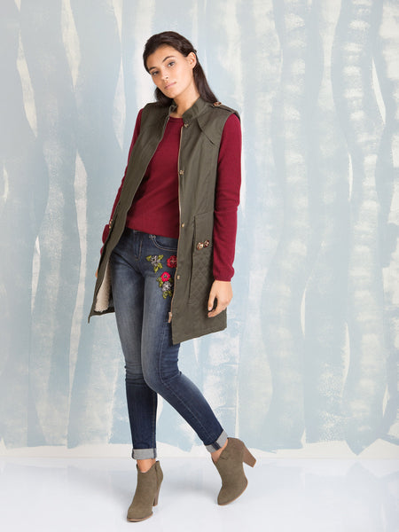 Winter Coats military Vest Fracomina Online Store Fracomina- Here Now