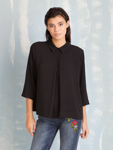 Shirt Black Blouse Fracomina Online Store Fracomina- Here Now