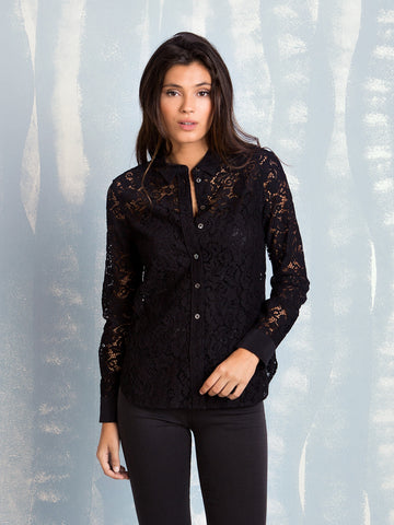 Equipment LEEMA SHIRT TRUE BLACK LACE EQUIPMENT- Here Now