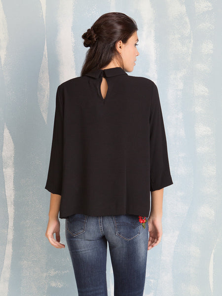 Shirt Black Blouse Fracomina Fracomina- Here Now
