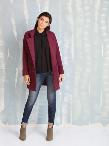 Coats Bordeaux for Women Here Now COQUELICOT- Here Now
