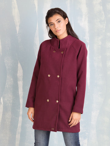 Coats Bordeaux for Women Coquelicot COQUELICOT- Here Now