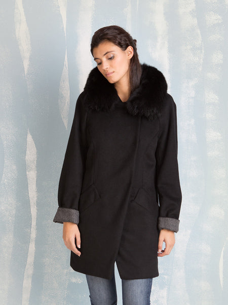 Winter Coats Black Women´s Fracomina Online Store Fracomina- Here Now