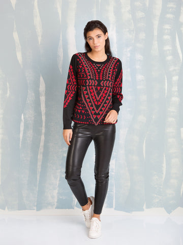 DEBY DEBO Empire Beaded Sweater DEBY DEBO- Here Now