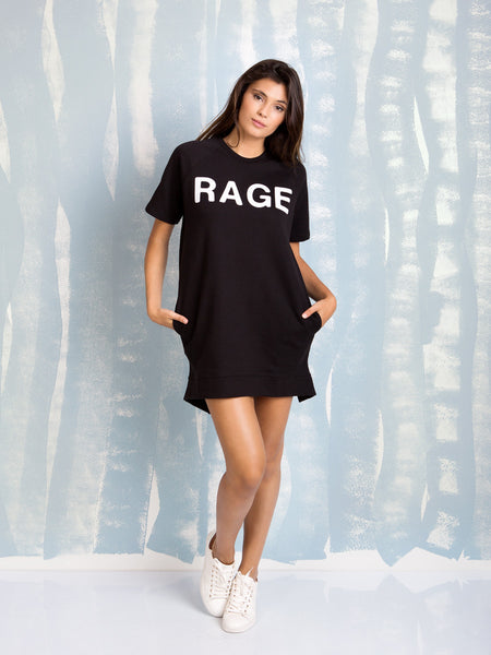 Zoe Karssen  SALE RAGE LOOSE FIT A-LINE DRESS in Black Zoe Karssen- Here Now
