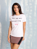 Zoe Karssen Sale YOU'RE MY LUCKY NR. 777 LOOSE FIT TEE in White T-Shirt Zoe Karssen- Here Now