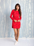 Dress Red Long Sleeve Coquelicot COQUELICOT- Here Now