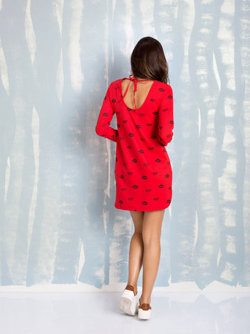 Dresses Red Long Sleeve Here Now COQUELICOT- Here Now