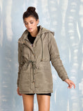 Parka Green Womens Here Now COQUELICOT- Here Now