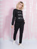 ZOE KARSSEN SALE Sweatshirt We're Perfect Match in Black Zoe Karssen- Here Now
