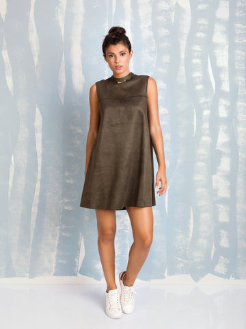 Dress A-Line Olive Fracomina Online Store Fracomina- Here Now