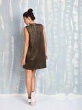 A-Line Olive Dress Fracomina Fracomina- Here Now