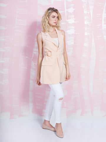 LAVISH ALICE SALE Nude and Sleeveless Trench Coat Women LAVISH ALICE- Here Now