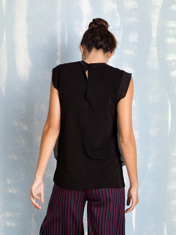 Fracomina Black Blouse Fracomina- Here Now