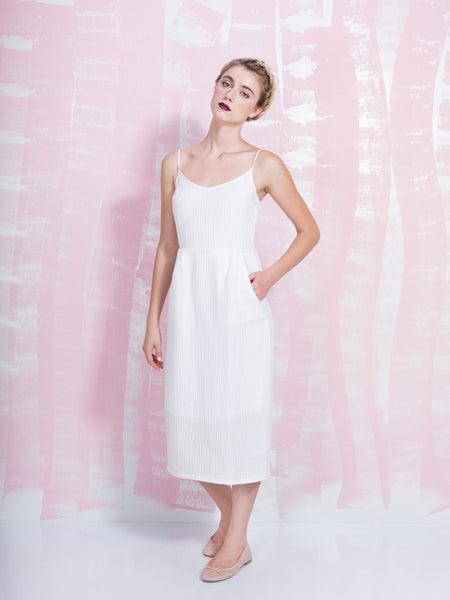 Dress Strappy White OBJECTS WITHOUT MEANING OBJECTS WITHOUT MEANING- Here Now