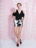 Lavish Alice SALE Black and White Shorts LAVISH ALICE- Here Now