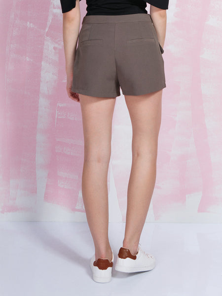 LAVISH ALICE SALE Women's Shorts in khaki LAVISH ALICE- Here Now