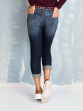 Jeans Boyfriend Capri with Patches Fracomina Online Store Fracomina- Here Now