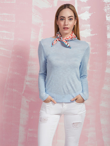 Blue and Backless Top Coquelicot COQUELICOT- Here Now