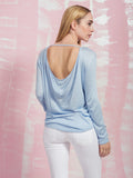 Blue and Backless Top Here Now COQUELICOT- Here Now