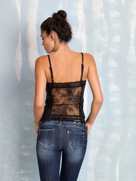 Lace Back Top Fracomina Fracomina- Here Now
