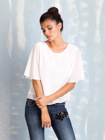 Fracomina White Blouse Fracomina- Here Now