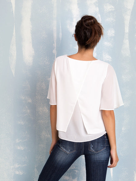 Blouse White Fracomina Fracomina- Here Now