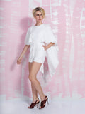 LAVISH ALICE Off White Open Tie Back Cape Playsuit LAVISH ALICE- Here Now