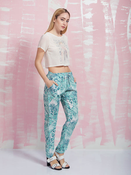 Leave it to the breeze Pants Coquelicot COQUELICOT- Here Now