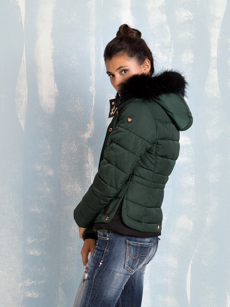 Fracomina green padded jacket Fracomina- Here Now