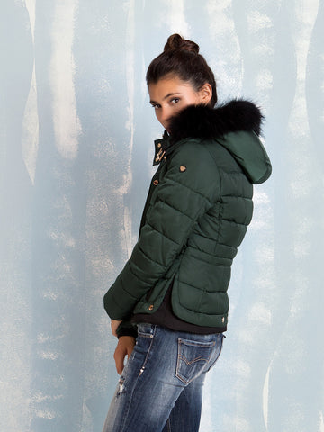 Hooded Jacket Green for women Fracomina Online Store Fracomina- Here Now