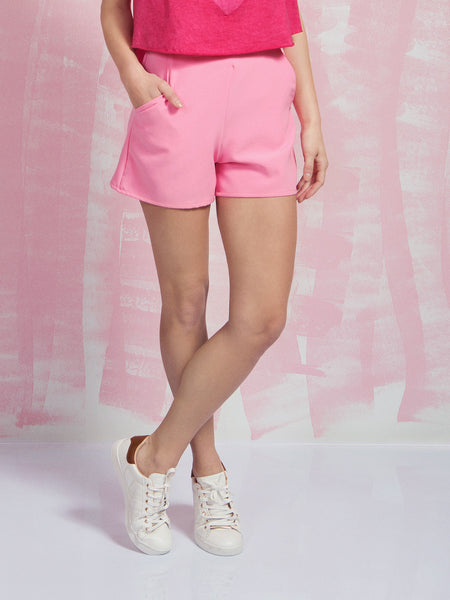 Women's Shorts in Pink Coquelicot COQUELICOT- Here Now