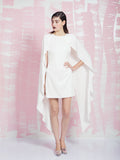 LAVISH ALICE SALE White Maxi Cape Dress LAVISH ALICE- Here Now
